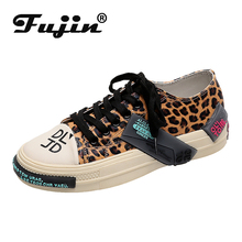 Fujin Classic Brand Flats 2019 Casual Shoes Dropshipping  Leisure Sexy Leopard Female Footwear Women Fashion