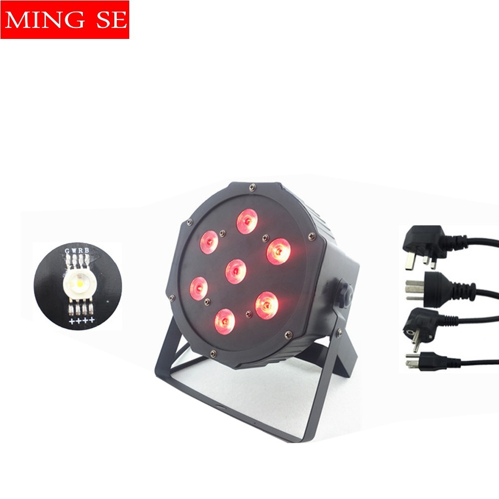 7x12w led Par lights RGBW 4in1 flat par led dmx512 disco lights professional stage dj equipment Russia or China fast shipping free shipping 9x10w 30w flat led par lights 9 10w 30w rgbw 3in1 par dmx512 control disco lights professional stage dj equipment