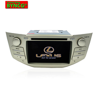 BYNCG rx300 2 Din Car DVD Player Android6.0 GPS Radio for rx330,7inch P 1024*600 ,Dual Core 3G WIFI 1g+16g DRR3 1.7GHZ