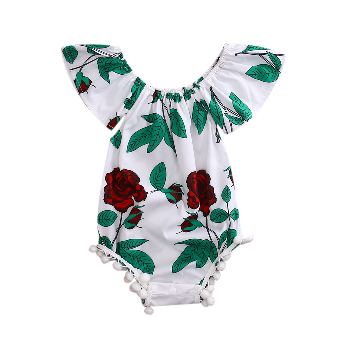 Summer Newborn Toddler Baby Kids Girl Floral Romper Jumpsuit Sunsuit Cotton One-Piece Clothes