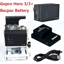 Gopro Extended Battery Bacpac 2300 mAh Portable Rechargeable Battery + USB Charging Cable For Gopro Hero 3/3+ Plus Accessories