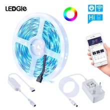 LEDGLE 16.4ft 150 LEDs WiFi Smart LED Strip Ligh Wireless APP Control Dimmable Tape Lights  Color Changing Music Rope Light