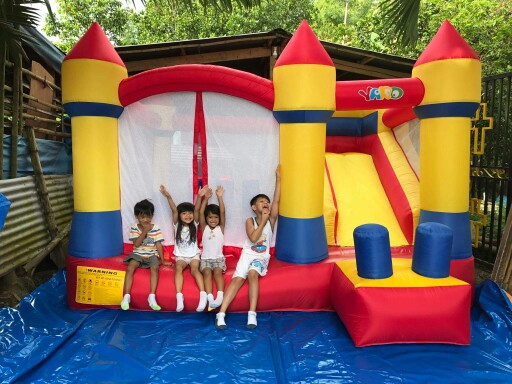 YARD Bounce House Inflatable Bouncy Castle Combo Slide Jump Moonwalk Inflatable Castle Outdoor Large Trampoline residential bounce house inflatable combo slide bouncy castle jumper inflatable bouncer pula pula trampoline birthday party gift