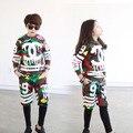 Новая мода Весна Осень камуфляж детская одежда набор улицы Костюмы дети спортивные костюмы Хип-Хоп танцевальная брюки толстовка