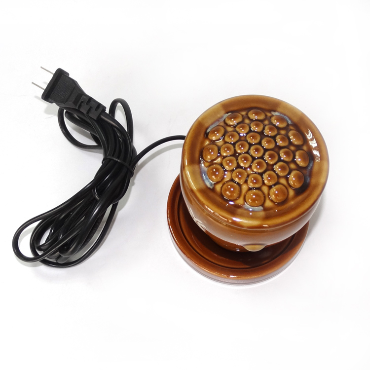 Electric heating Ceramic pot scrapping warming massage pot Meridian acupuncture point therapy for arm leg body abdomen home use 110v 120v 100w poultry ceramic heating emitter black heating lamp for pet heating bulb for reptile with socket e26