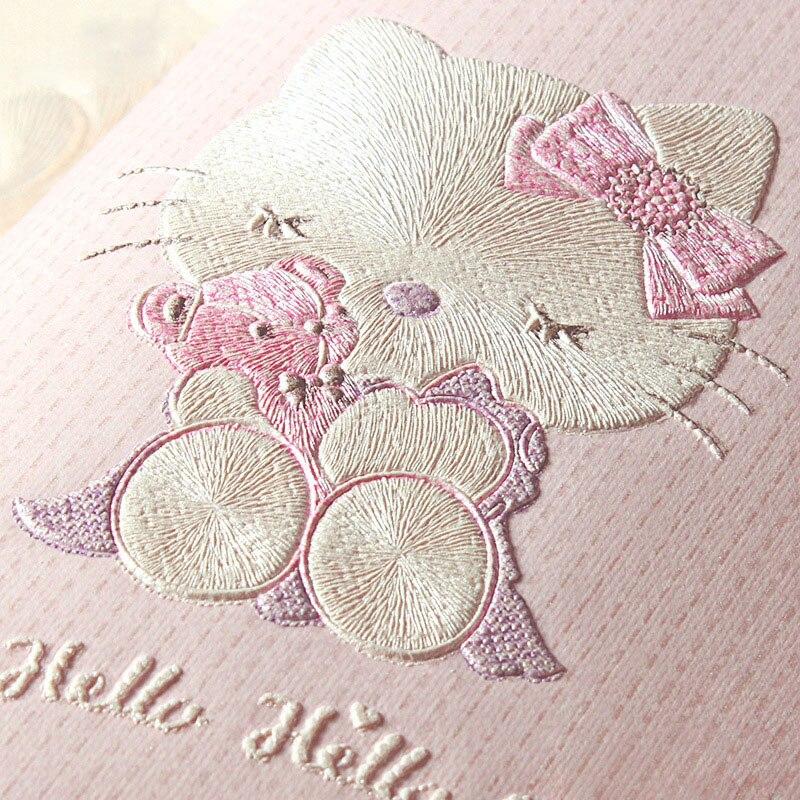 Korea Gaya Kain Non woven Stereoskopik Pereda Wallpaper Kucing Kartun Putri Room Ruang Anak anak Anak