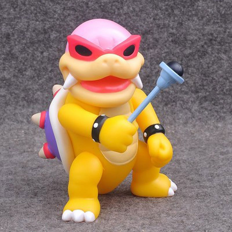 10cm Rare Collection Anime Game Super Mario Koopalings Bowser Roy Action Figure Toys