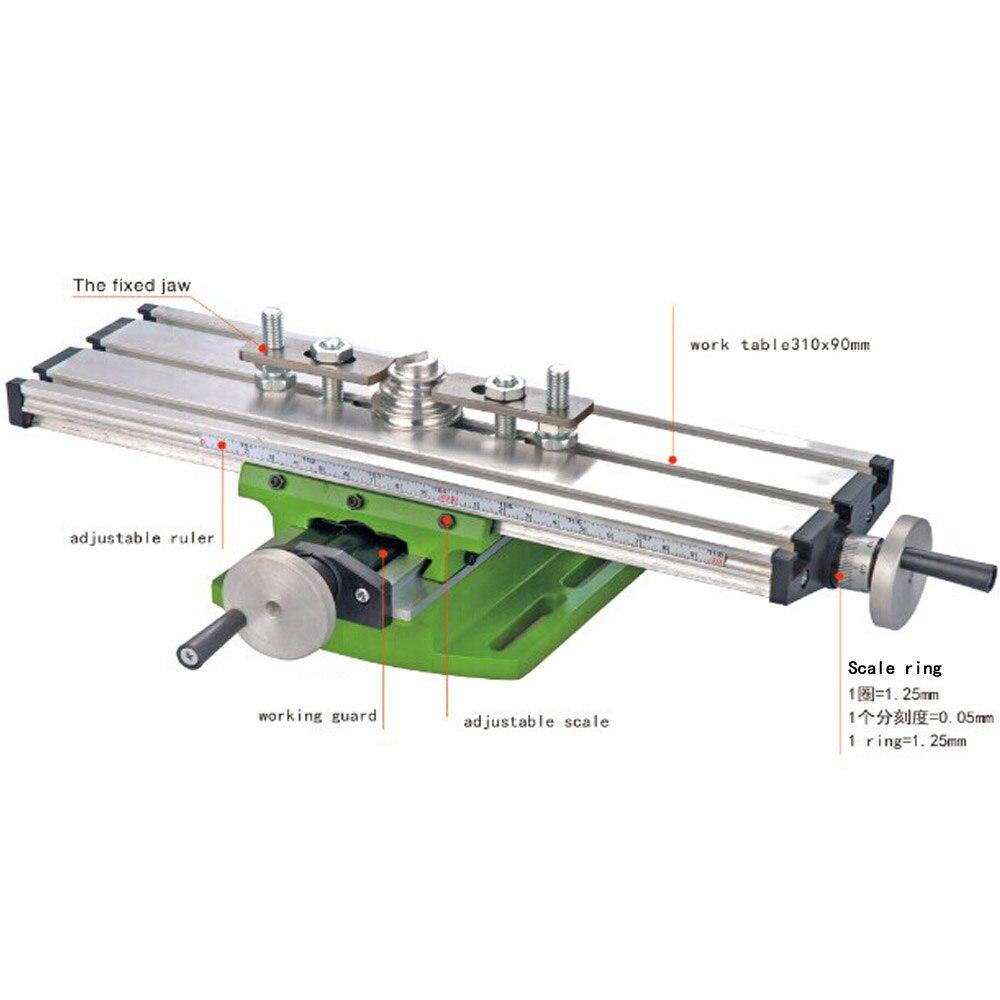 Мини Прецизионный многофункциональный Рабочий стол BG6300 тисках приспособление сверла фрезерный станок X и Y оси регулировки координировать ...