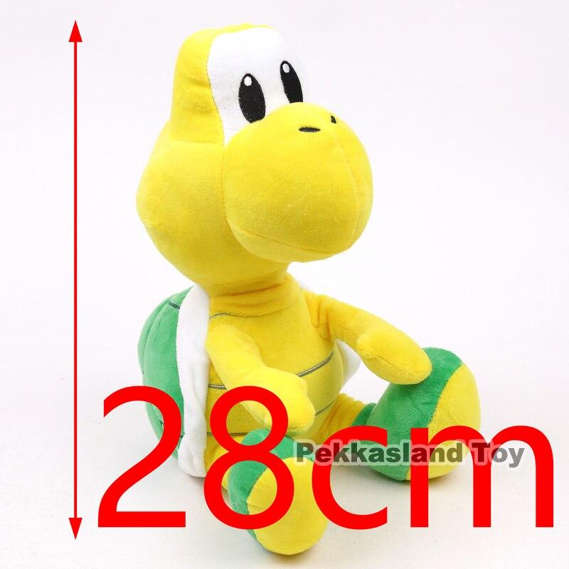 Super Mario Bros Koopa Troopa Turtle Cartoon Kawaii juguete peluche Regalo de Cumpleaños de Navidad 28 cm
