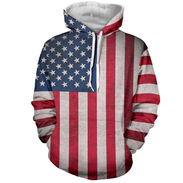 02f440baf2 US $14.87 42% OFF|Top quality cotton Mens Hoodie Sweatshirt American Flag  Printing Men Hoody Tracksuit Male Clothing Hip Hop Casual Hoodies-in  Hoodies ...