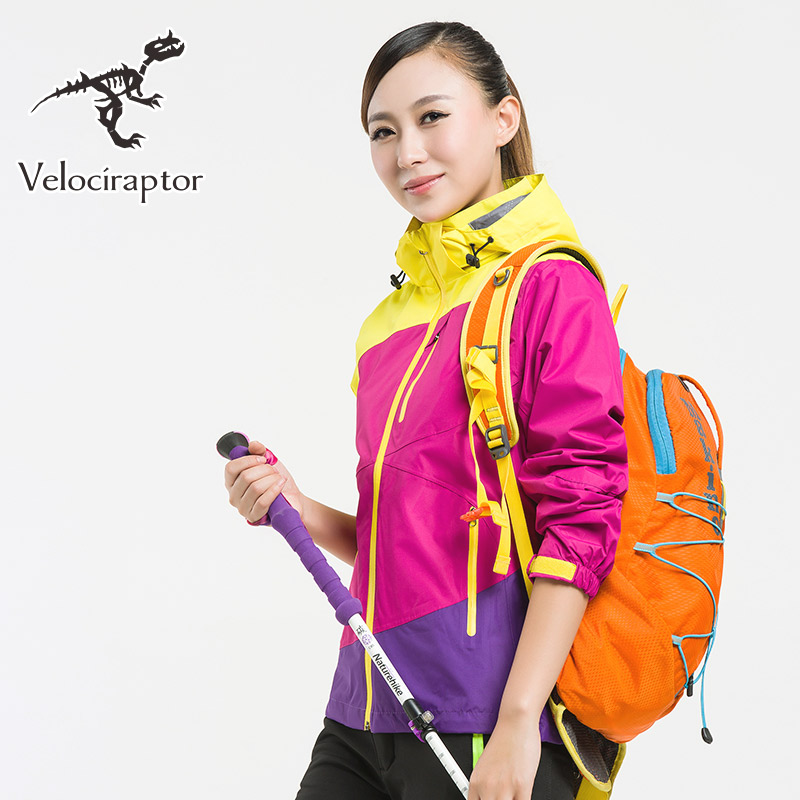 Womens Hiking jacket Waterproof Outdoor Windbreaker Warm Ski Camping  Winter 2 pieces Fleece Lining Coat Fishing Multi-function