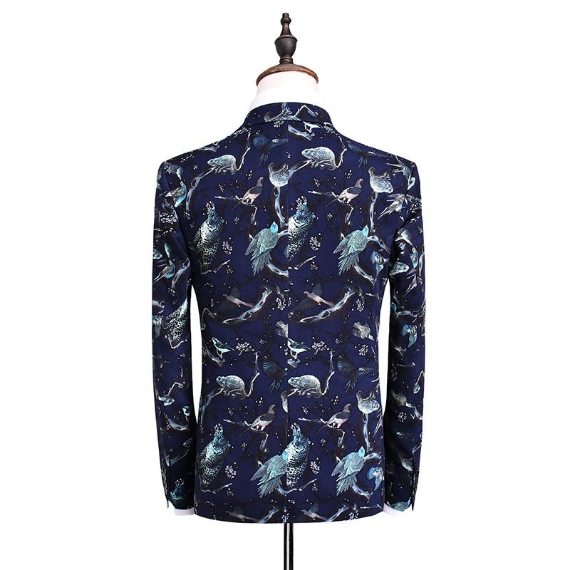 De Costume Costumes Gilet D'affaires Laine Mariage Royal Robe Pantalon Slim Haute Bleu Blazers 2017 veste Hommes Casual Qualité U8wPZwqx4