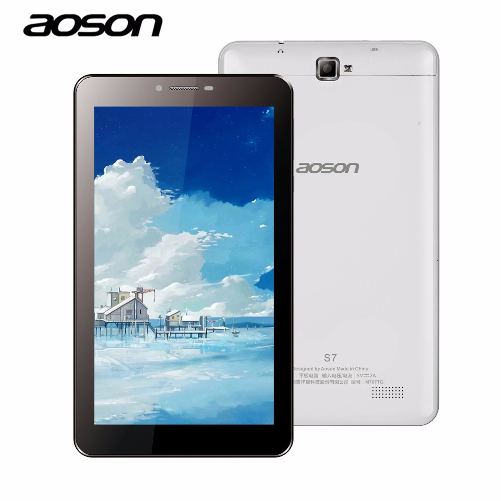WCDMA 3G Phone Call Aoson S7 7 inch 8GB Tablet PC Quad Core IPS Screen Android