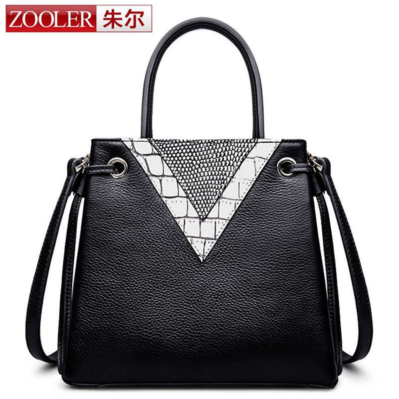 ZOOLER Fashion Women Genuine Leather Handbag Vintage Trend Female Crossbody Messenger Shoulder Bag Ladies Top Handle Tote Bags sfg house 3 piece set women vintage purses shoulder bags fashion 2017 female handbag pu leather tote messenger bag crossbody bag
