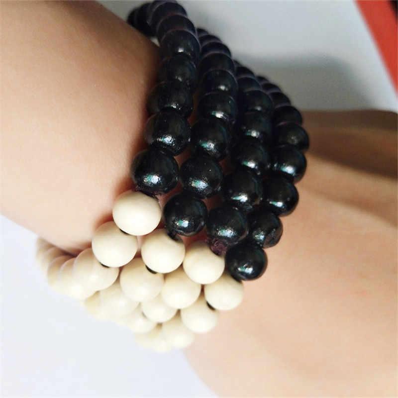 Nueva joyería étnica de moda Bodhi Buda cuentas vintage pulsera, accesorios de joyería hechos a mano puros capas de sándalo pulsera hombre