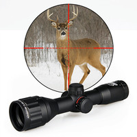 Canis Latrans Hot Sale Canislatrans 4X32 Mini Double Color Rifle Scope For Hunting gs1 0140
