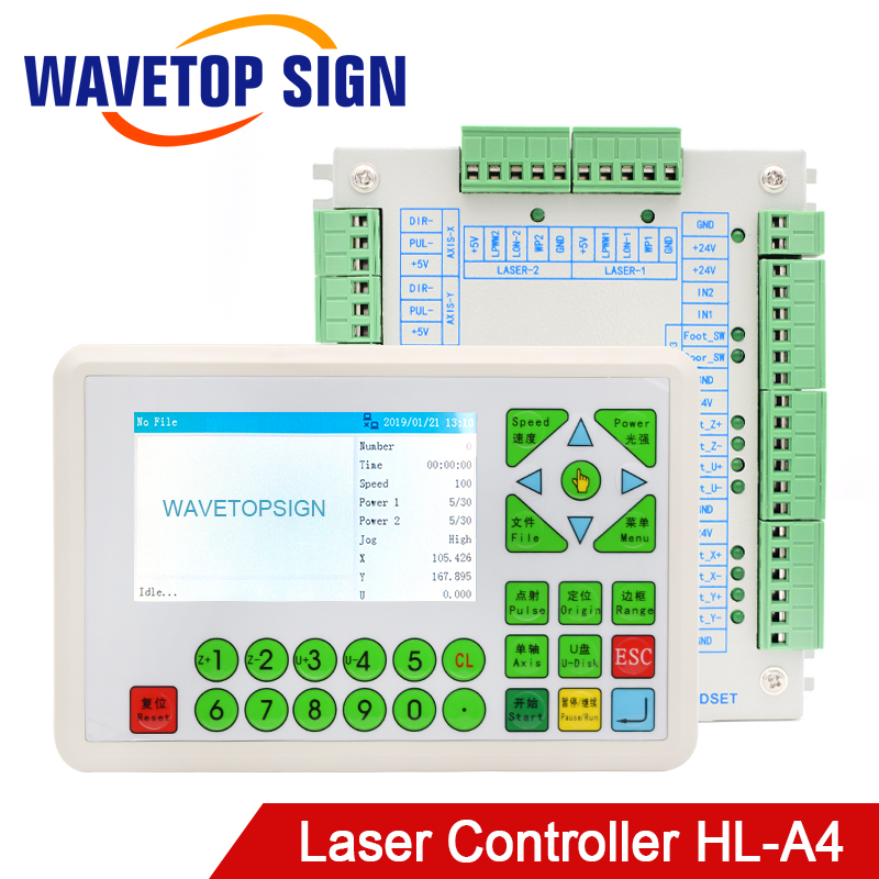 WaveTopSign CO2 Laser Controller System HL A4 24V 2A use for Laser Engraving and Cutting Machine