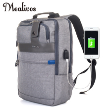 Mealivos Anti-theft Water Resistant Laptop Backpack With USB Charging Port Lightweight School College Bag Rucksack Fits 17-inch coolbell 15 6 inch laptop backpack travel bag with usb charging port multi functional business rucksack bags water resistant ff
