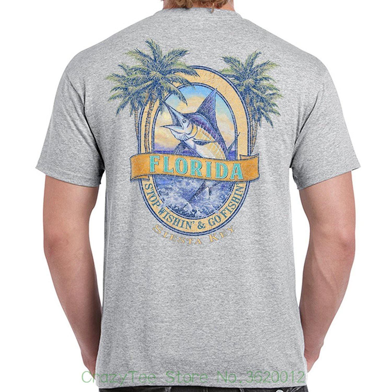 T shirts 2018 Brand Clothes Slim Fit Printing Siesta Key