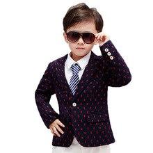 New Design Boys Dots Print Blazers Kids Fashion Spring Blazer