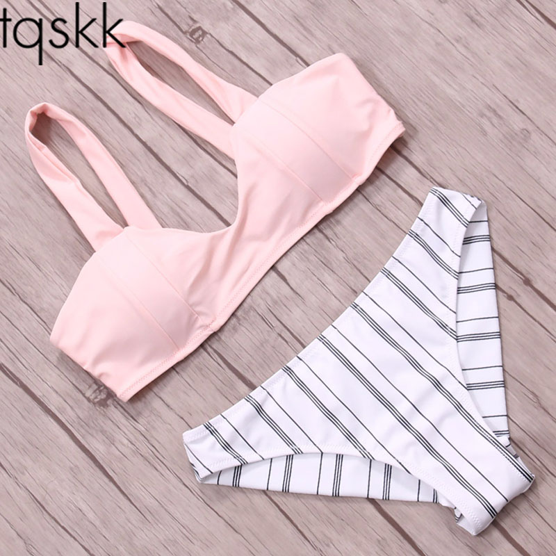 TQSKK 2017 New Sexy Solid Women Swimwear Bikinis Swimsuit Female Summer Retro Bikini Set Beach Swim Wear Bathing Suits Biquini tqskk 2017 new sexy solid women swimwear bikinis swimsuit female summer retro bikini set beach swim wear bathing suits biquini