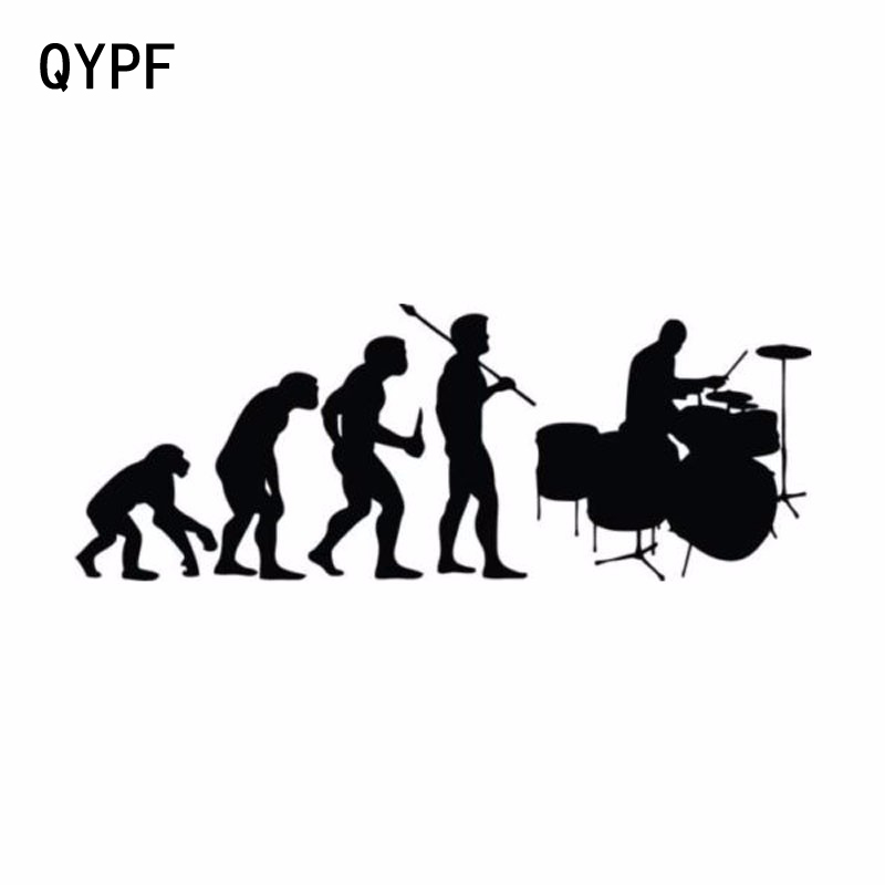 QYPF 15.2CM*5.7CM Personality Car Styling Frame Drum Evolution Vinyl Car Stickers S2-0018