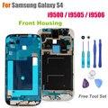 Высокое Качество Передняя Рамка для Samsung Galaxy S4 I9500/I9505/I9506 Замена Передней Корпус Экрана Рамка Запчастей