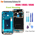 High Quality Front Frame for Samsung Galaxy S4 i9500 / i9505 / i9506 Front Housing Replacement Screen Bezel Repair Parts