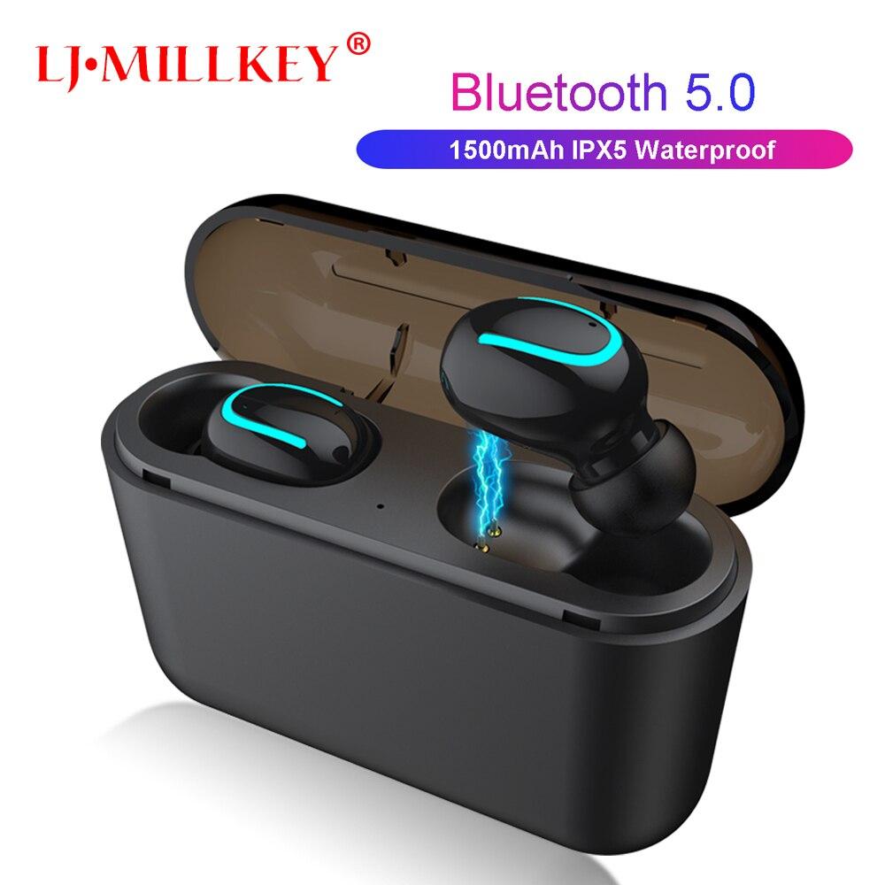 TWS Bluetooth 5.0 Earphones Ture Wireless Earphone Handsfree Sports Earbuds Gaming Headset 1500mah YZ258TWS Bluetooth 5.0 Earphones Ture Wireless Earphone Handsfree Sports Earbuds Gaming Headset 1500mah YZ258