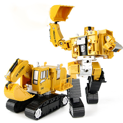 Image 5 - 2 in 1 Alloy Engineering Transformation Robot Car Deformation Toy Metal Alloy Construction Vehicle Truck Assembly Robot For Kid-in Diecasts & Toy Vehicles from Toys & Hobbies