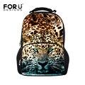 Новая мода leopard рюкзак для мужчин 3d зоопарк животных печати мужской рюкзаки студенты ноутбук сумка bolsas для мальчиков