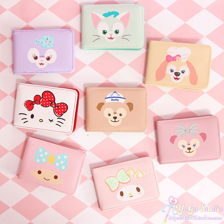 Cartoon Cute Duffy Bear Stellalou Cookie Dog Shelliemay Gelatoni Hello Kitty My Melody Little Twin Stars Card Holder Bag Package