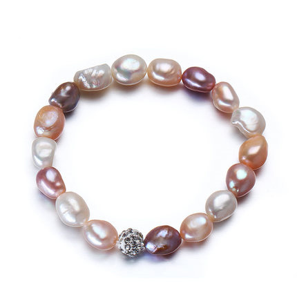 2016 Charm Bracelet Pearl Jewelry Baroque Pearl Bracelet Mix-color Natural Freshwater Pearl Bracelet For Women
