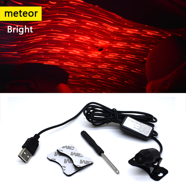 CNSUNNYLIGHT USB LED Car Atmosphere Ambient Star Light DJ RGB Colorful Music Sound Lamp Christmas Interior Decorative Light