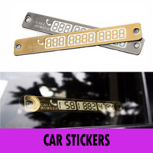 Car sticker Parking Card Luminous Temporary Telephone Phone Number Card Notification Night Sucker Plate Car Styling Sign Notice(China)