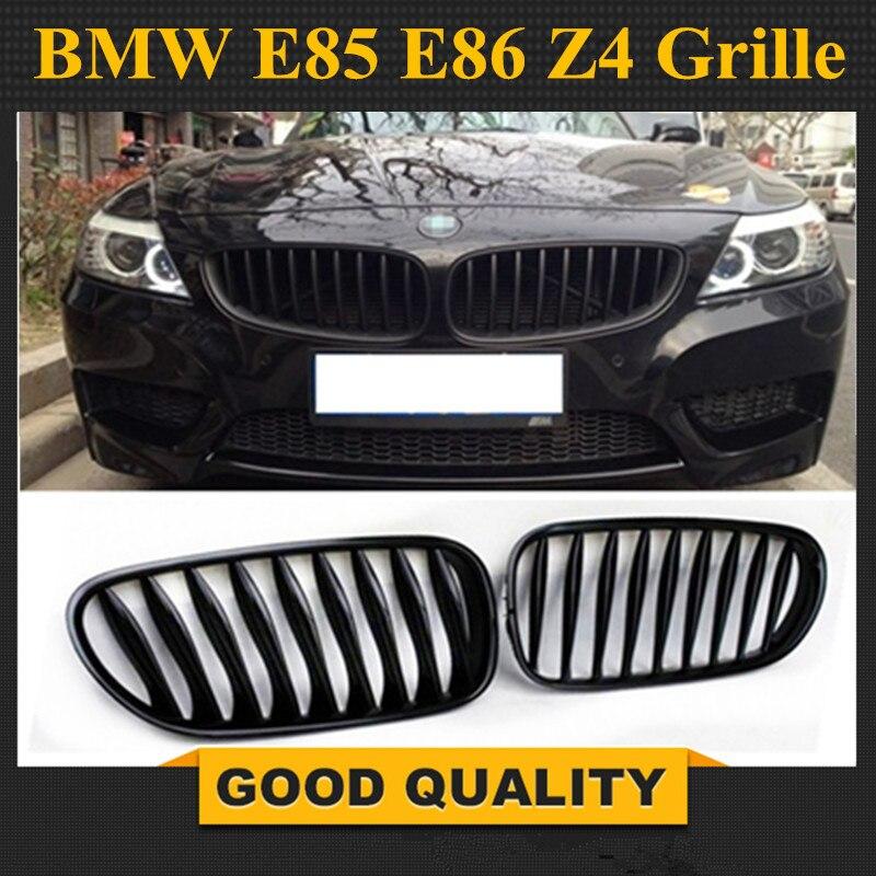 Livraison gratuite: 1 paire pour BMW E85 E86 Z4 2003-2008 noir brillant M couleur avant rein voiture gril Grille pare-chocs voiture-style