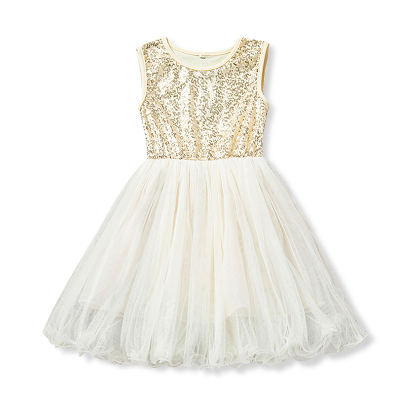 Gold Sequin Dress For 3 4 5 6 7 8 Years Baby Girls Tulle Dresses Kids Party Wear Children Summer Clothing Cute Lace Clothes 2018 little girl lace dress white baby girls princess dresses 2018 cute cotton kids summer clothes for size age 2 3 4 5 6 7 8 years