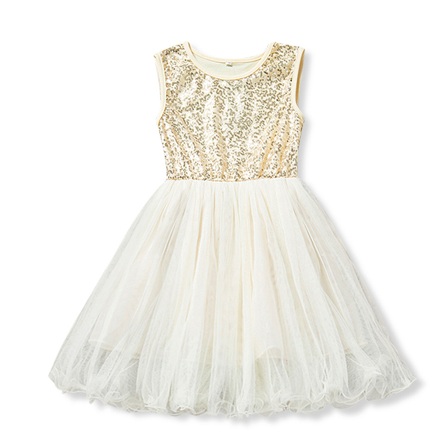 gold sequin dress for 3 4 5 6 7 8 years baby girls tulle
