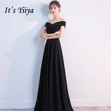 Its Yiiya evening dresses Boat neck Zipper back A-line Party gowns Elegant Backless Short sleeve Floor-length Prom dress C152