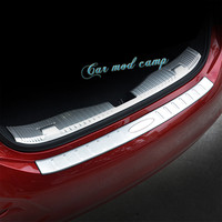 For Chevrolet Cruze 2017 Sedan Stainless Steel Inner & Outer Rear Bumper Protector Guard Plate Trim 2pcs Car Styling Accessories