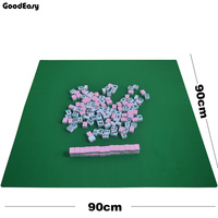 90x90cm Mahjong Rubber Table Cloth Family Party Game Mini Mahjong Table Mat (not included mahjong just mahjong table cloth)