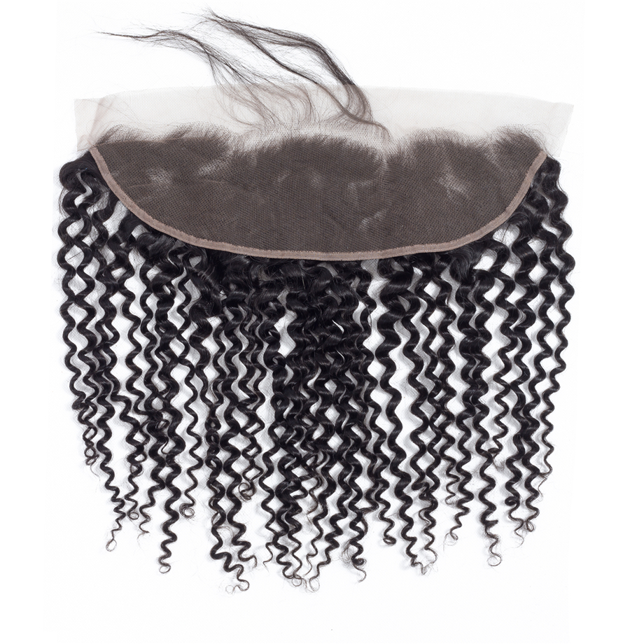Image 5 - BY Hair 13x4 Lace Frontal Closure Kinky Curly Lace Frontal 8 22inch Ear to Ear Cheveux Humain Remy Hair Swiss Lace Frotnal-in Closures from Hair Extensions & Wigs
