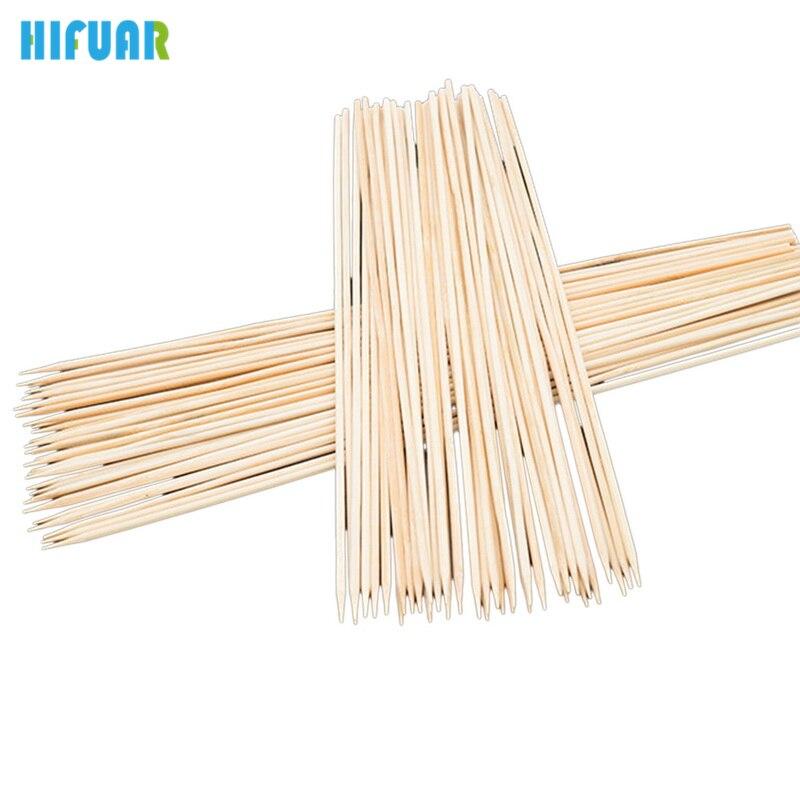 Hifuar 90PCs/Set BBQ Accessories Wood Skewers Grill Shish Kabob one-off Sticks Bamboo Barbecue Tools Churrasco BBQ Grill Mats
