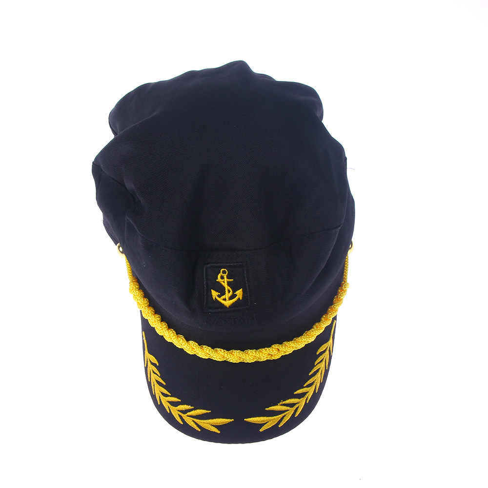 9bf74fcf832 ... 1PC Black Unisex Boat Ship Sailor Captain Costume Hat Cap Navy Marine  Admiral Hat ...