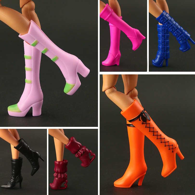 2019 модные новые длинные сапоги обувь для куклы Барби Смешанная красочная кукла аксессуары 15 стиль доступны для вас выбор