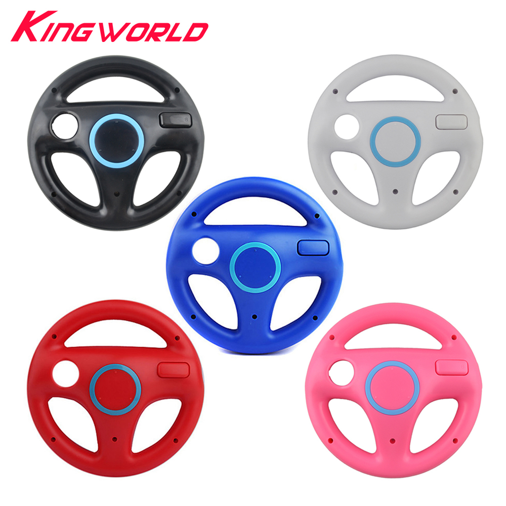 10pcs Hight quality RV77 Plastic Steering Wheel For Nintendo for Wii Racing Games Remote Controller Console