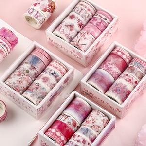 Image 4 - 10 teile/satz Dekorative Kawaii Washi Band Set Meer und Wald Serie Japanischen Papier Aufkleber Japanischen Schreibwaren Scrapbooking Liefern