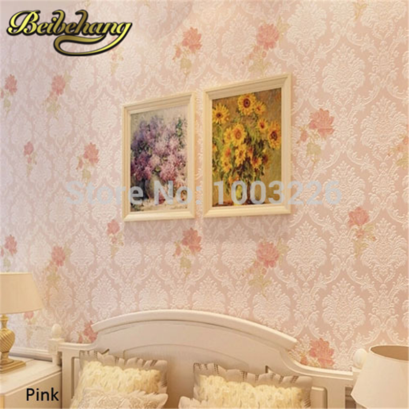 beibehang 3 D Wall Papers Damask Floral Wallpaper Vintage Classic Bedroom Living Room Home Decor Pink Beige .papel de parede [zob] supply of new original omron omron level switch cover ps 3s 5pcs lot