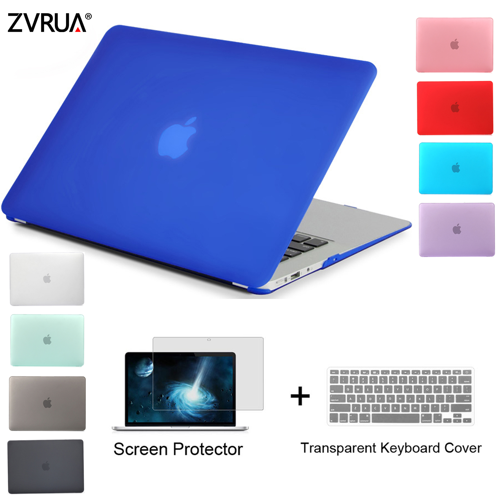 ZVRUA Best Laptop Case For MacBook 13 15 inch Pro with Retina A1502 A1398 / CD ROM A1278 A1286 + Keyboard Cover+Screen Protector цены