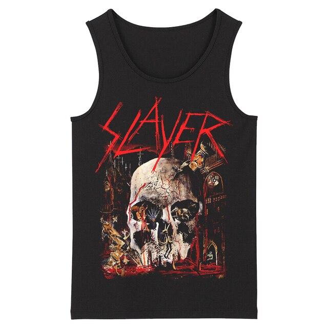 Bloodhoof Slayer Death Metal Heavy Metal HardMetal Deathcore  Mens Top Tank Tops Asian Size